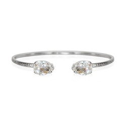 Petite Drop Bracelet/ Crystal Rhodium