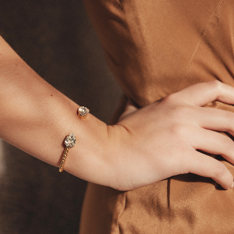 Mini Drop Bracelet/ Crystal Gold