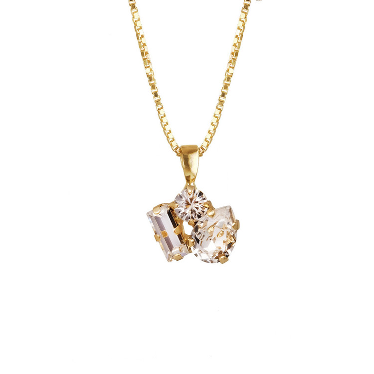 Isa Necklace/ Crystal Gold