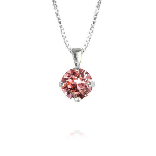 Classic Petite Necklace/ Light Rose - Rhodium