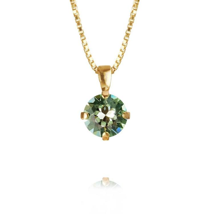 Classic Petite Necklace/ Chrysolite - Gold