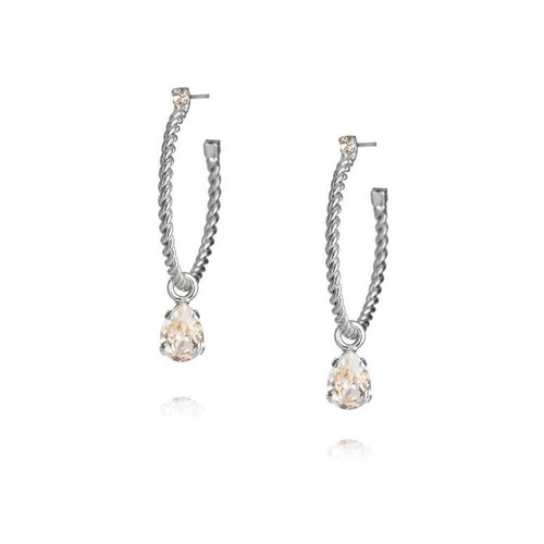 Nani Earrings/ Crystal - Rhodium