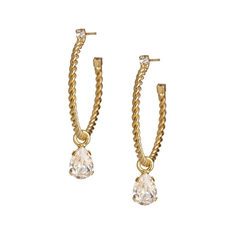 Nani Earrings/ Crystal - Gold