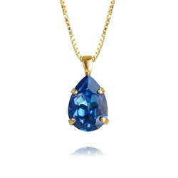 Mini Drop Necklace/ Royal Blue Delite - Gold
