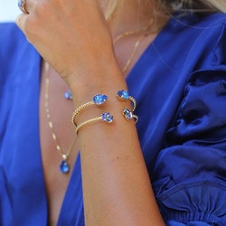 Mini Drop Bracelet/ Royal Blue Delite - Gold
