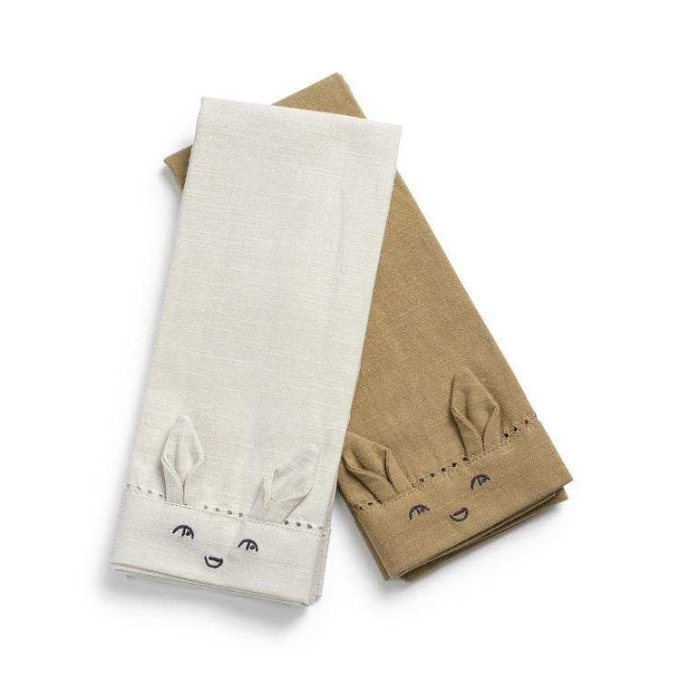 Tygservetter för barn - Lily White/Warm Sand