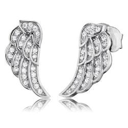 Örhängen Angelwing silver studs