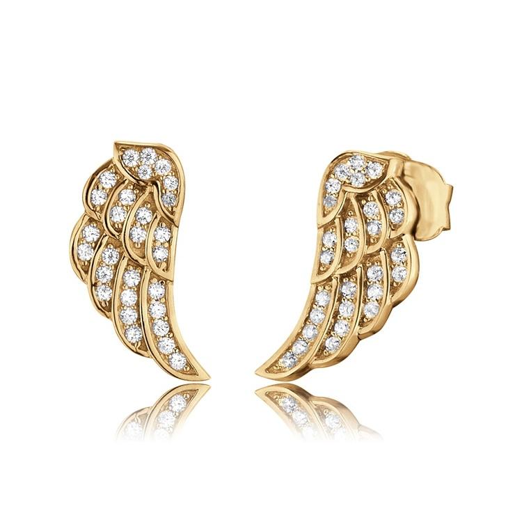 Örhängen Angelwing gold stud