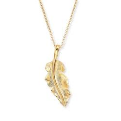 Halsband Fjäder guld