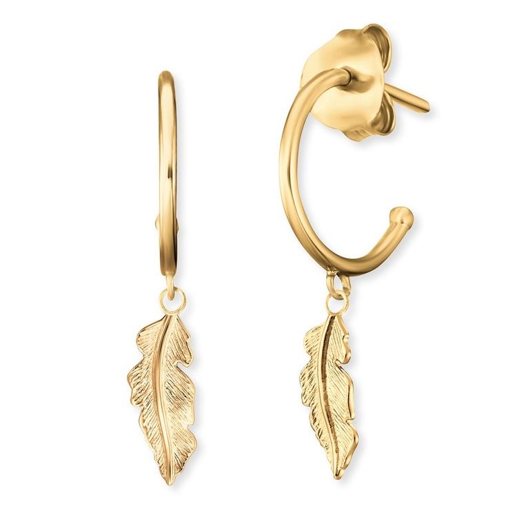 Örhänge Fjäder guldcreol