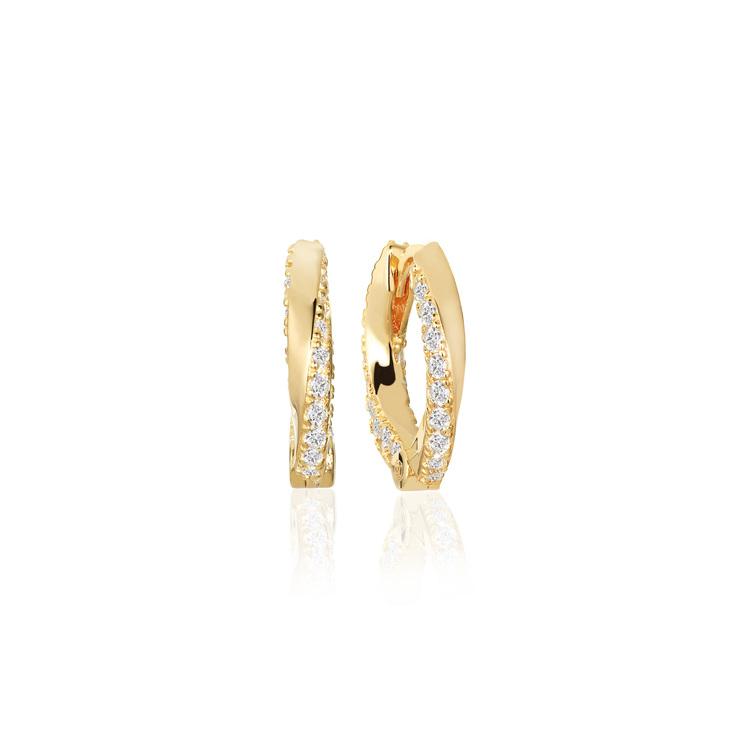 Ferrara Medio Earrings Gold