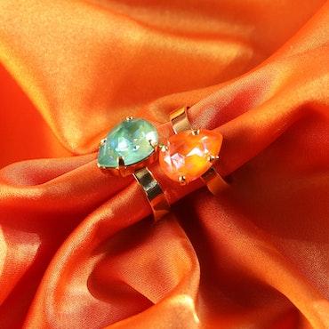 Mini Drop Ring/ Orange Glow Delite