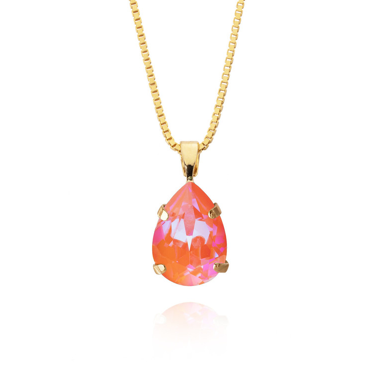 Mini Drop Necklace/ Orange Glow Delite