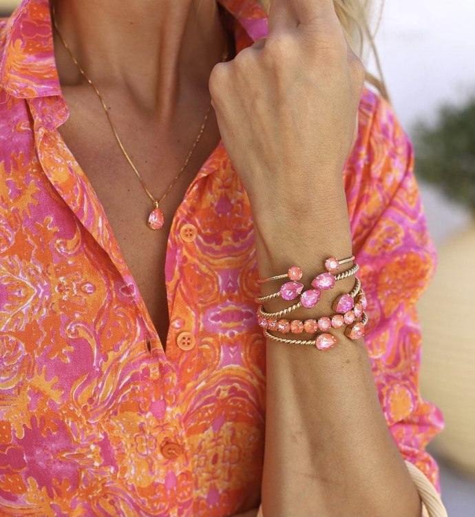 Mini Drop Bracelet/ Orange Glow Delite