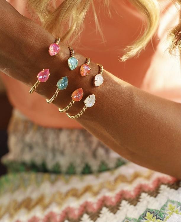Mini Drop Bracelet/ Lotus Pink