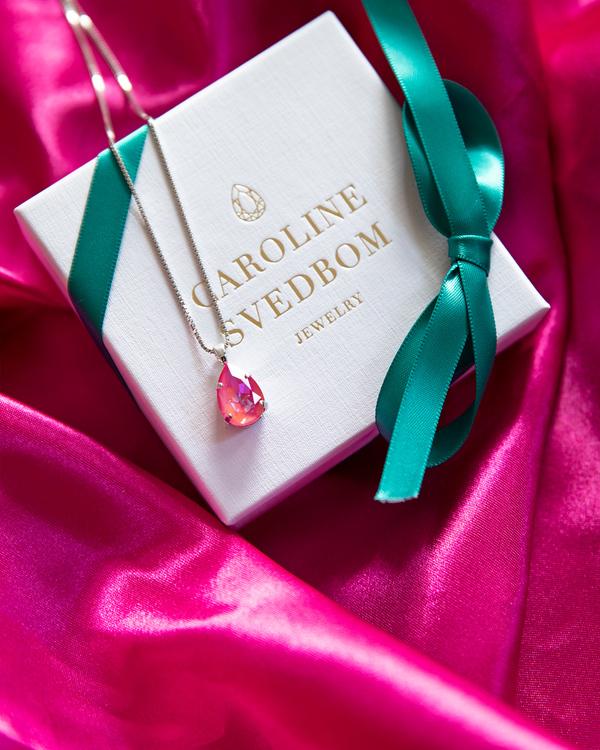 Mini Drop Necklace/ Lotus Pink Delite