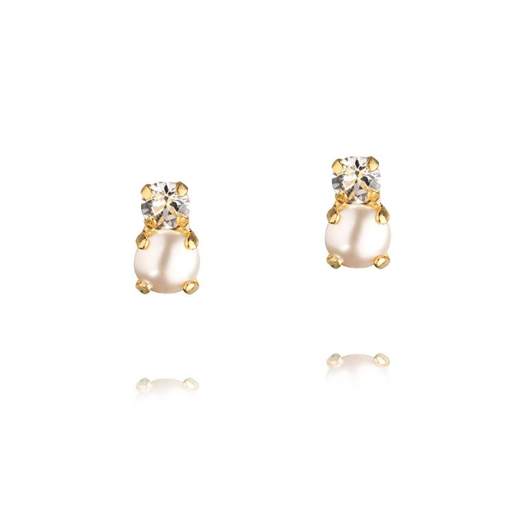 Love Pearl Earrings Gold