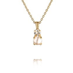 Girls Love Pearl Necklace Gold