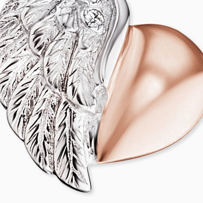 Halsband Heartwing Silver/Rosé