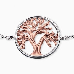 Armband Livets Träd silver/rosé