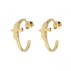 Dove Hoop Small Gold