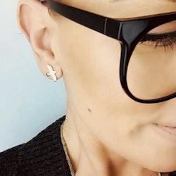 Silver Dove Pin Earrings