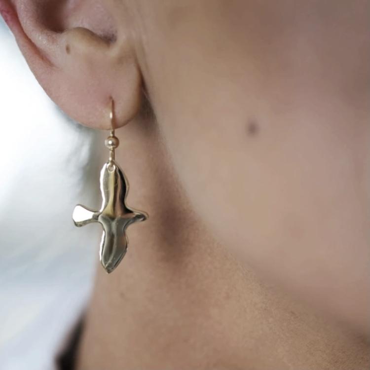 Golden Dove Earrings