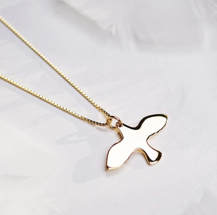 Golden Small Dove Necklace