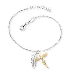 Armband Fjäder och Ängel