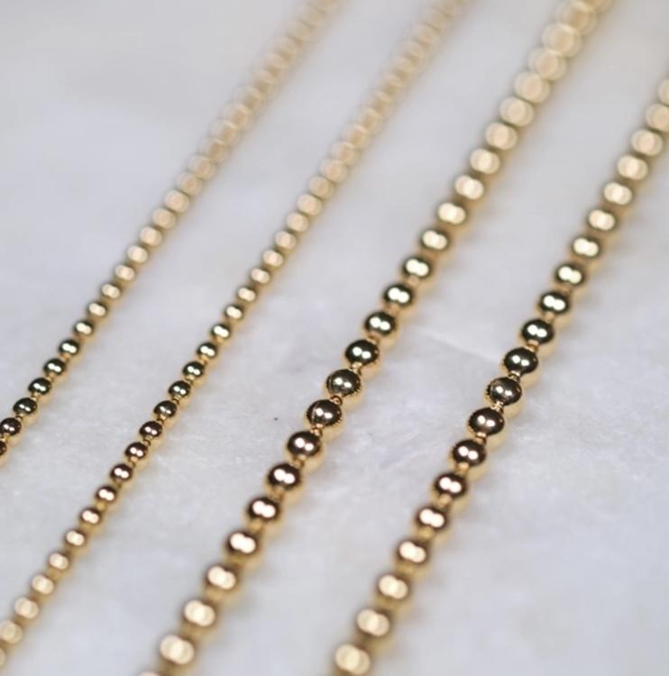 Globe Chain Thin Gold
