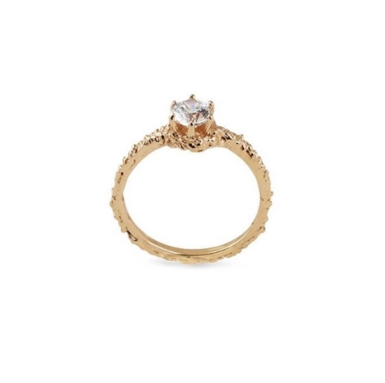 Small Sparkle Ring Gold
