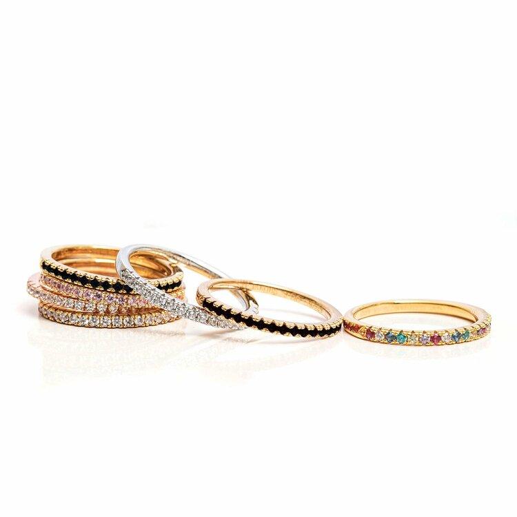 Ellera Ring Crystal Silver