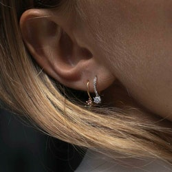 Rimini Earrings Silver Cz