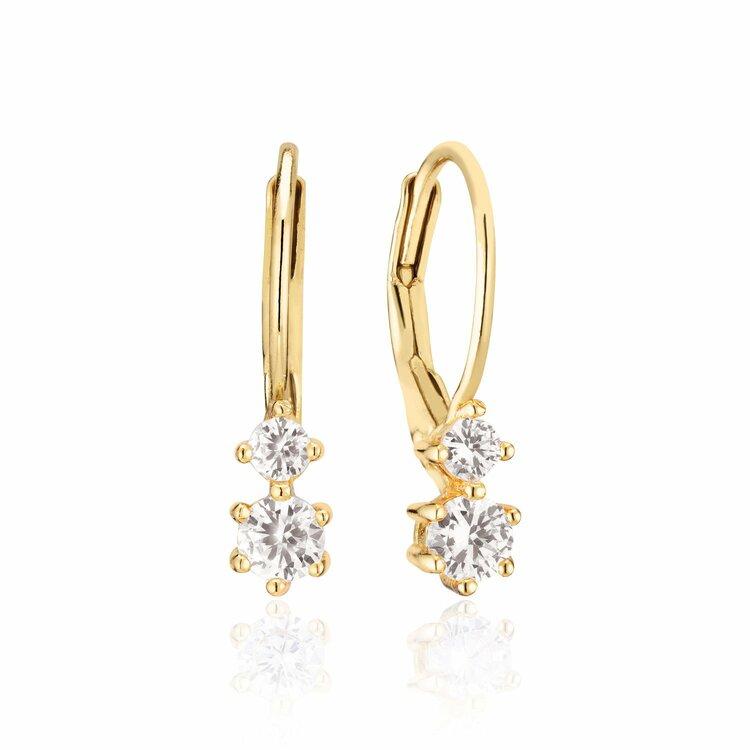 Rimini Due Earrings Gold