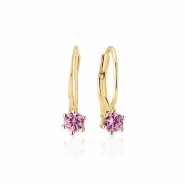 Rimini Earrings Violet Gold