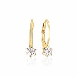 Rimini Earrings Gold Cz