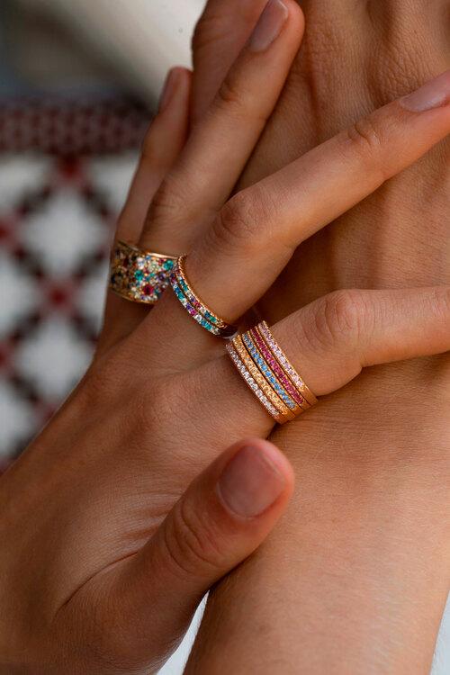 Ellera Ring Crystal Gold