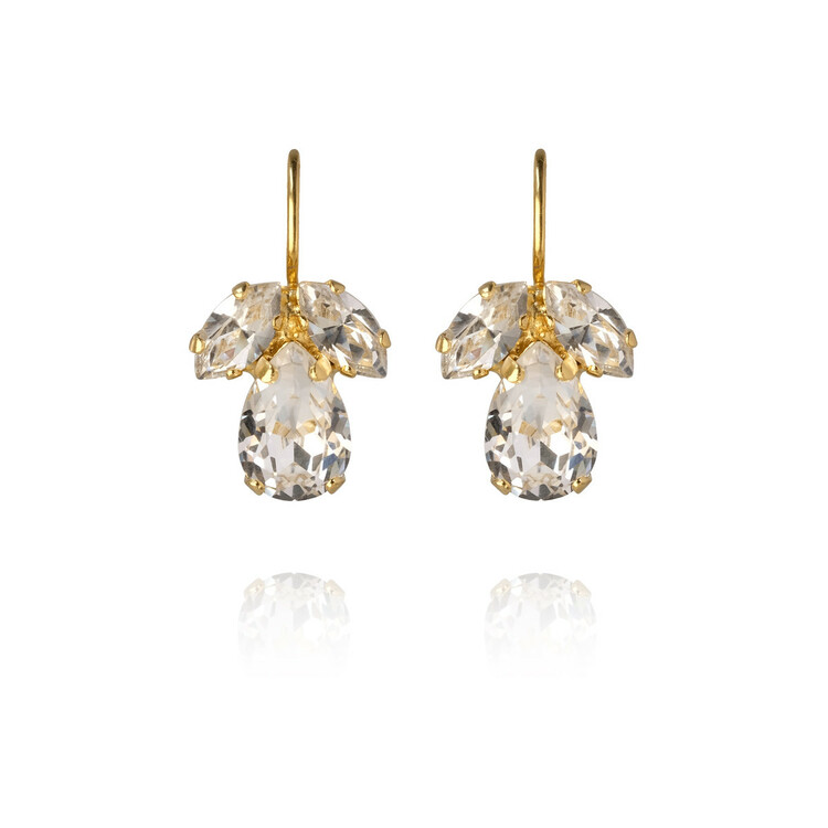 Petite Timo Earrings - Crystal/Gold