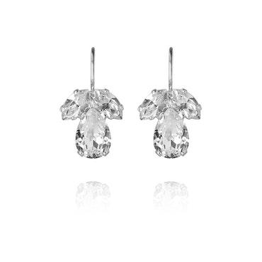 Petite Timo Earrings - Crystal/Rhodium