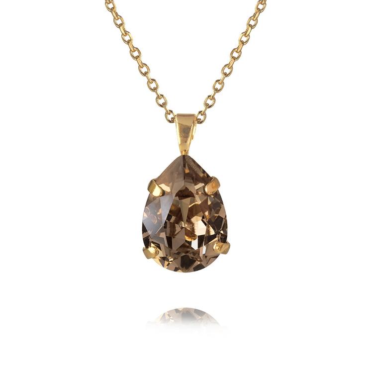 Mini Drop Necklace Greige/Gold