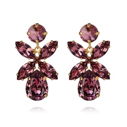 Dione Earrings Iris/Gold