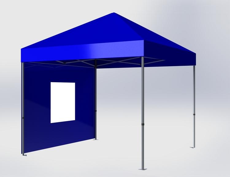 Popup Tält - 3x3m - Blå - Stativ med takduk