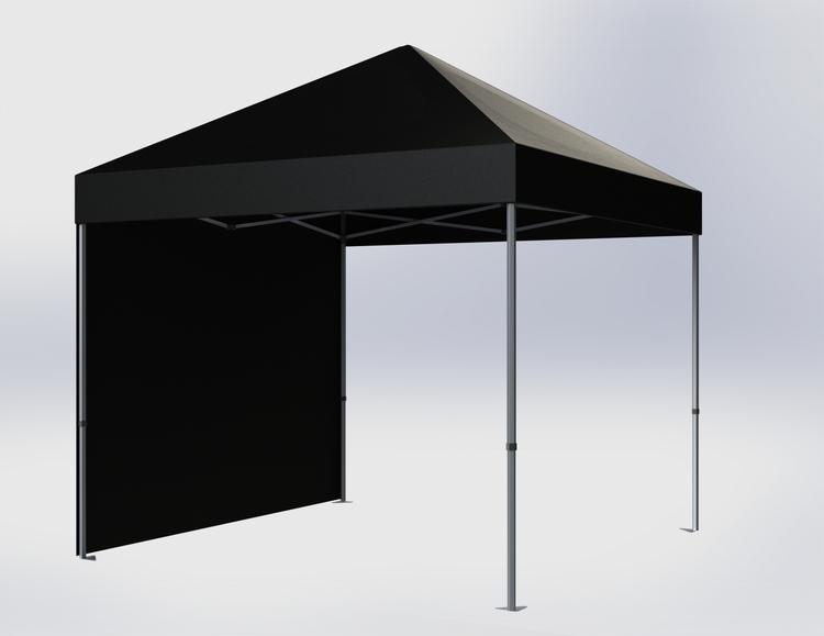 Popup Tält - 3x3m - Svart - Stativ med takduk