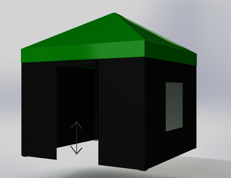 Popup Tält - 3x3m - Grön - Stativ med takduk