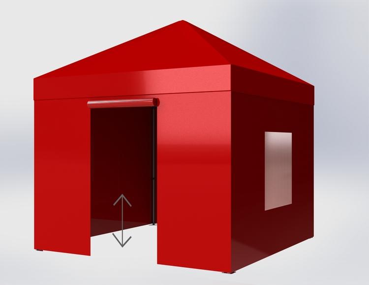 Popup Tält - 3x3m - Röd - Stativ med takduk