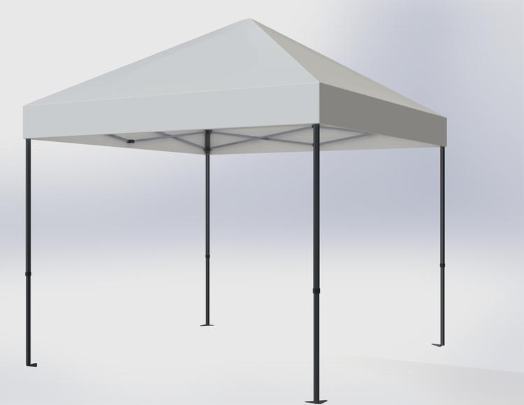 Popup Tält - 3x3m - Vit - Stativ med takduk
