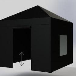 Popup tält - 3x3m - Komplett Tält - Svart Tak