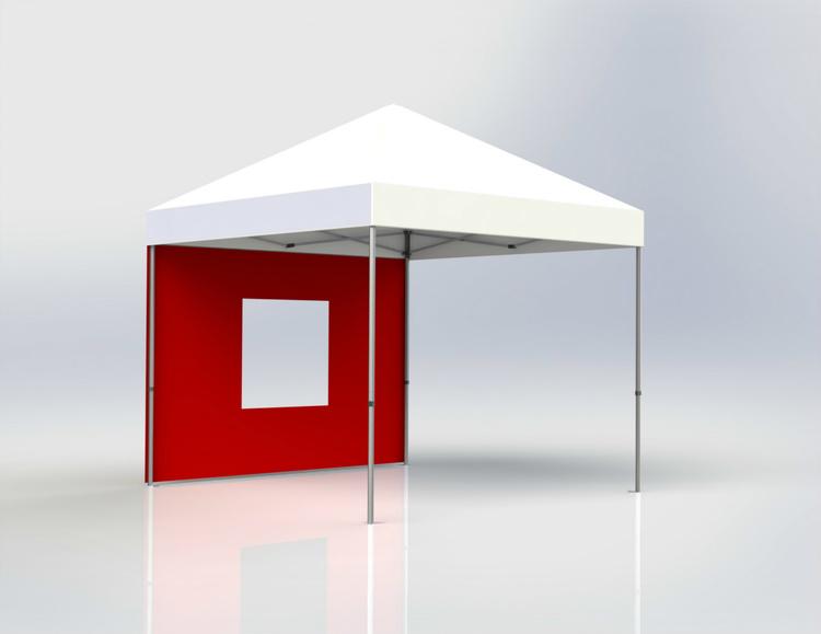 Tältvägg 3 m Röd med fönster
