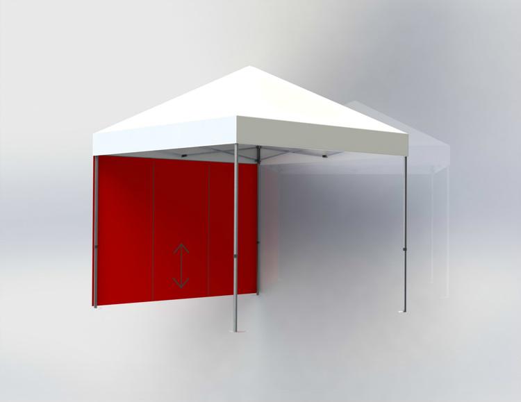 Tältvägg 3 m Röd med dörr