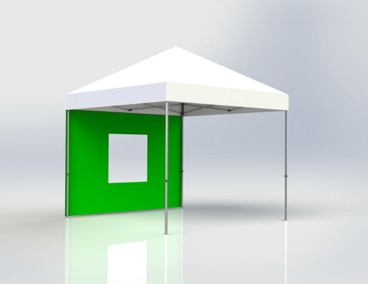 Tältvägg 3 m Grön med fönster